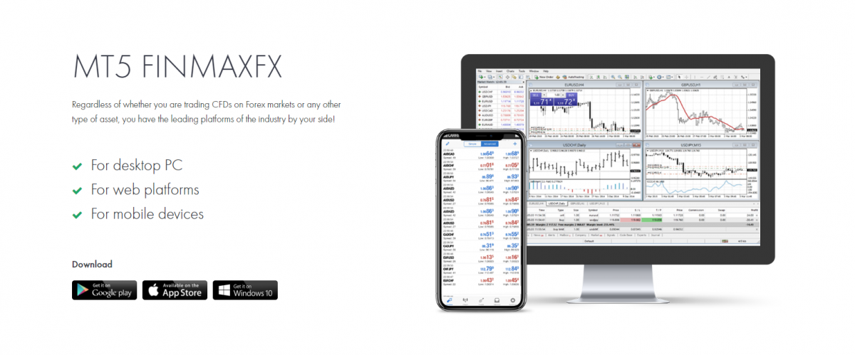 Mobile trading, Finmax financial platform