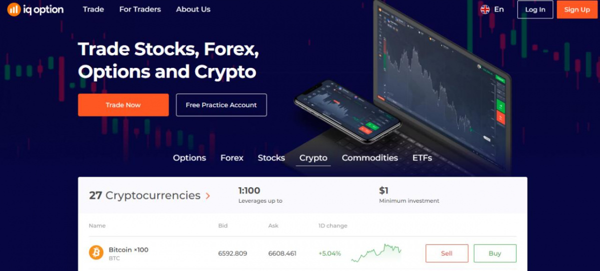 Cryptocurrency multiple on IQ Option